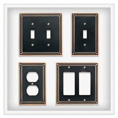 Franklin W35064-VBC-C Beaded Outlet Wall Plate /