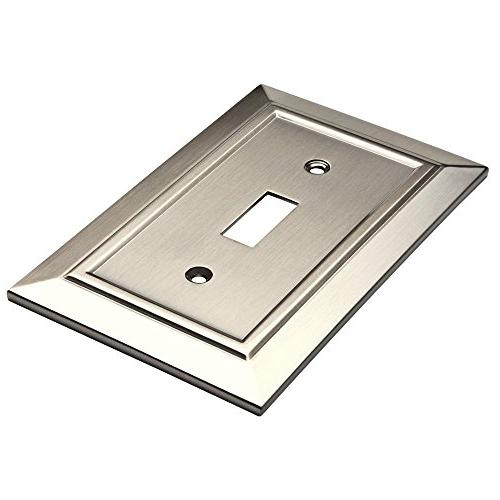 Franklin Architecture Toggle Switch Wall Plate/Switch Nickel