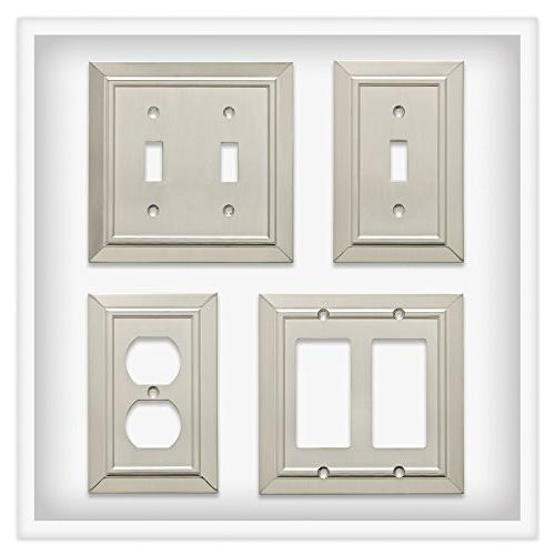 Franklin Brass Architecture Single Plate/Switch Nickel