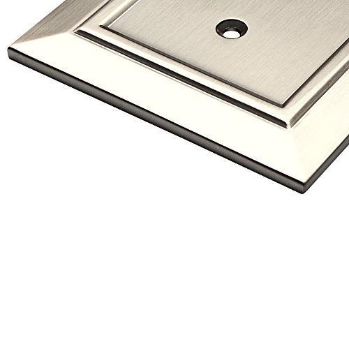 Franklin Brass Architecture Duplex Plate/Switch , Satin Nickel