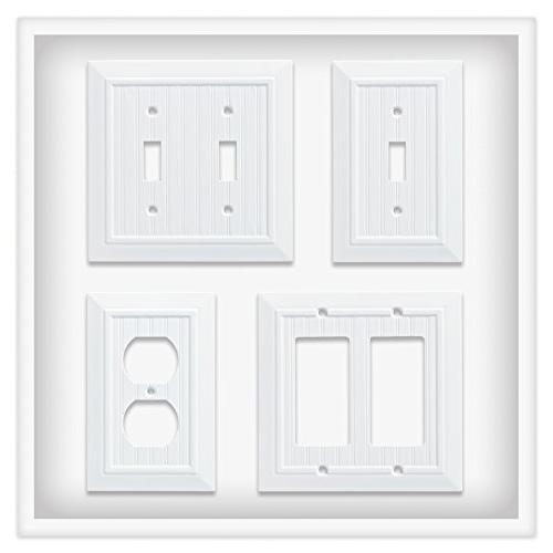 Franklin Beadboard Single Duplex Wall White