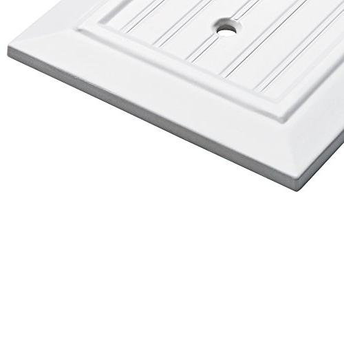 Franklin Plate/Switch , White