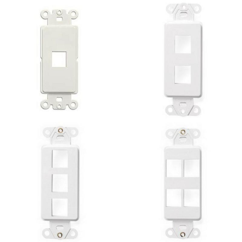 wall face plate decora style white plastic
