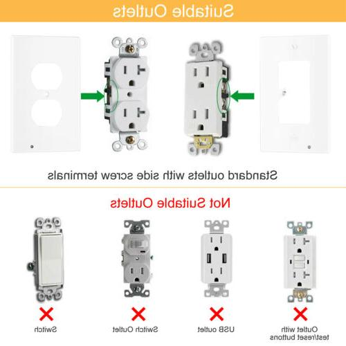 Wall Outlet With Ambient Auto On/Off