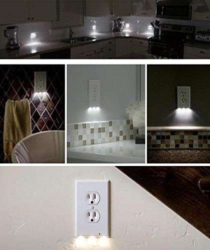 6 Outlet Plate LED Lights - Or In -