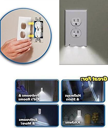 6 Outlet Plate Lights - No Batteries Or In -