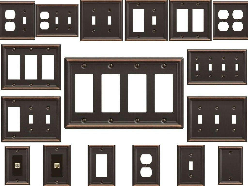 wall plates bronze switch outlet plate cover