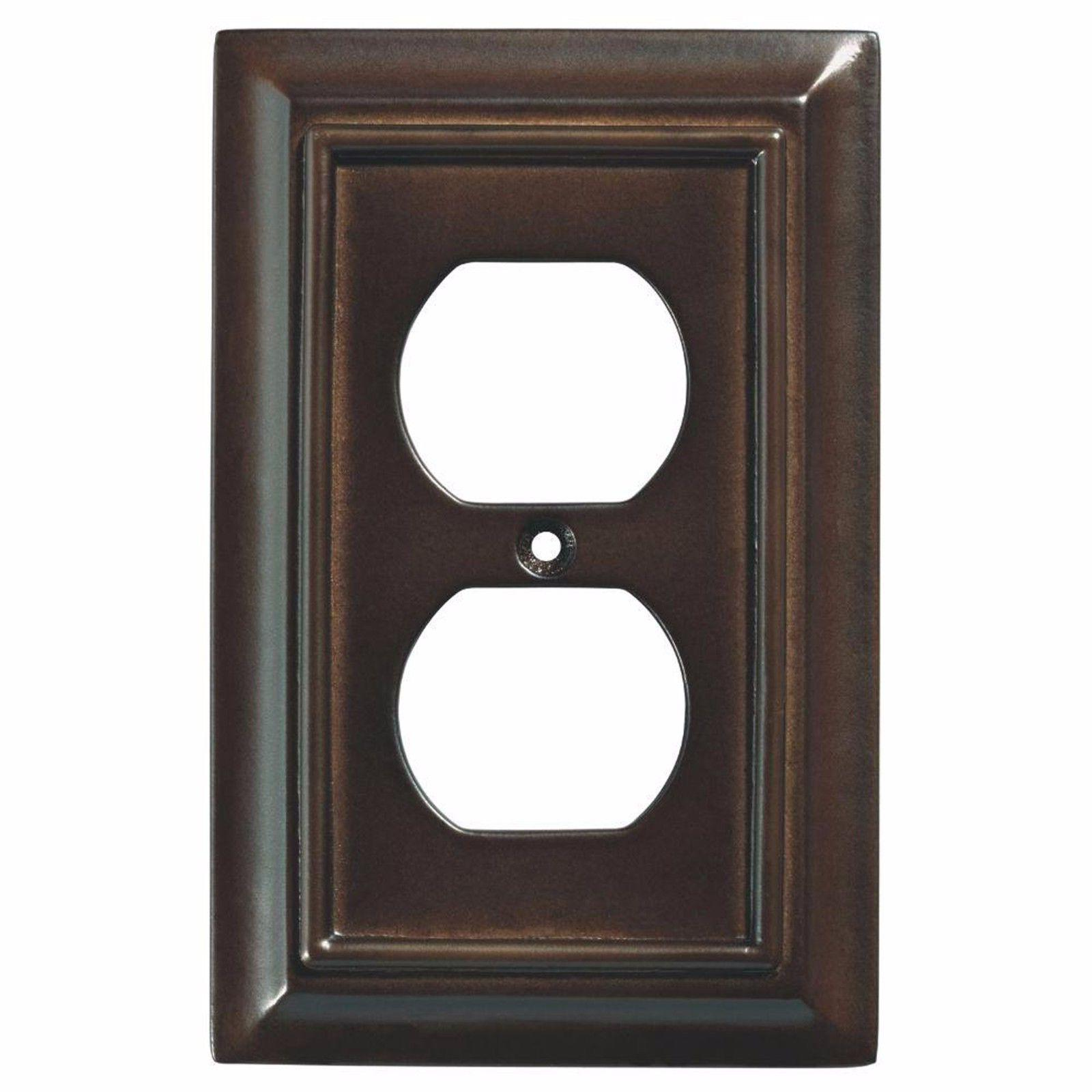 Wall Plates Wood Decorative Duplex Outlet