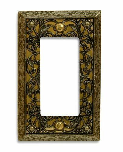 Wall Plate Cover Filigree Brass Toggle Rocker