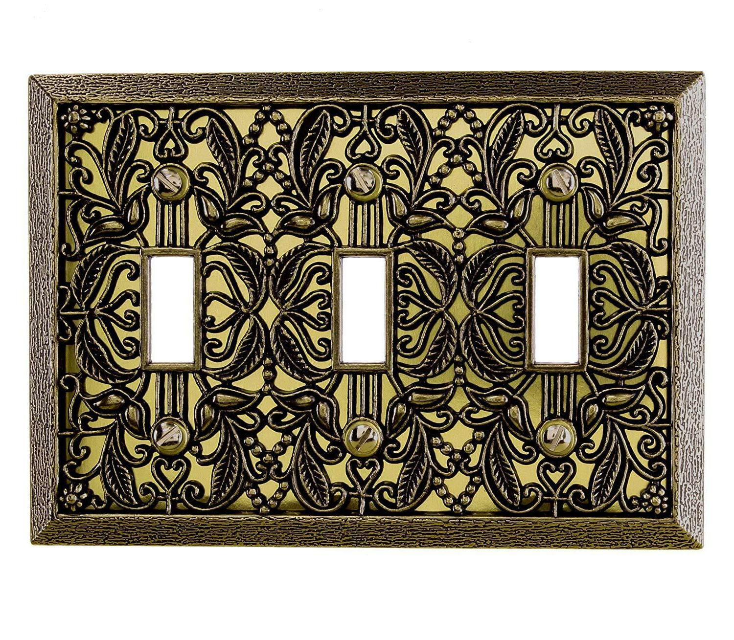 Wall Switch Cover Filigree Antique Toggle Rocker