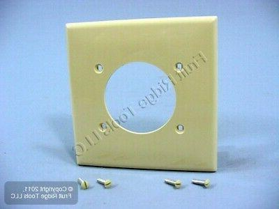 Wallplate 2-Gang Single 2.15 Standard Size Nylon - Ivory