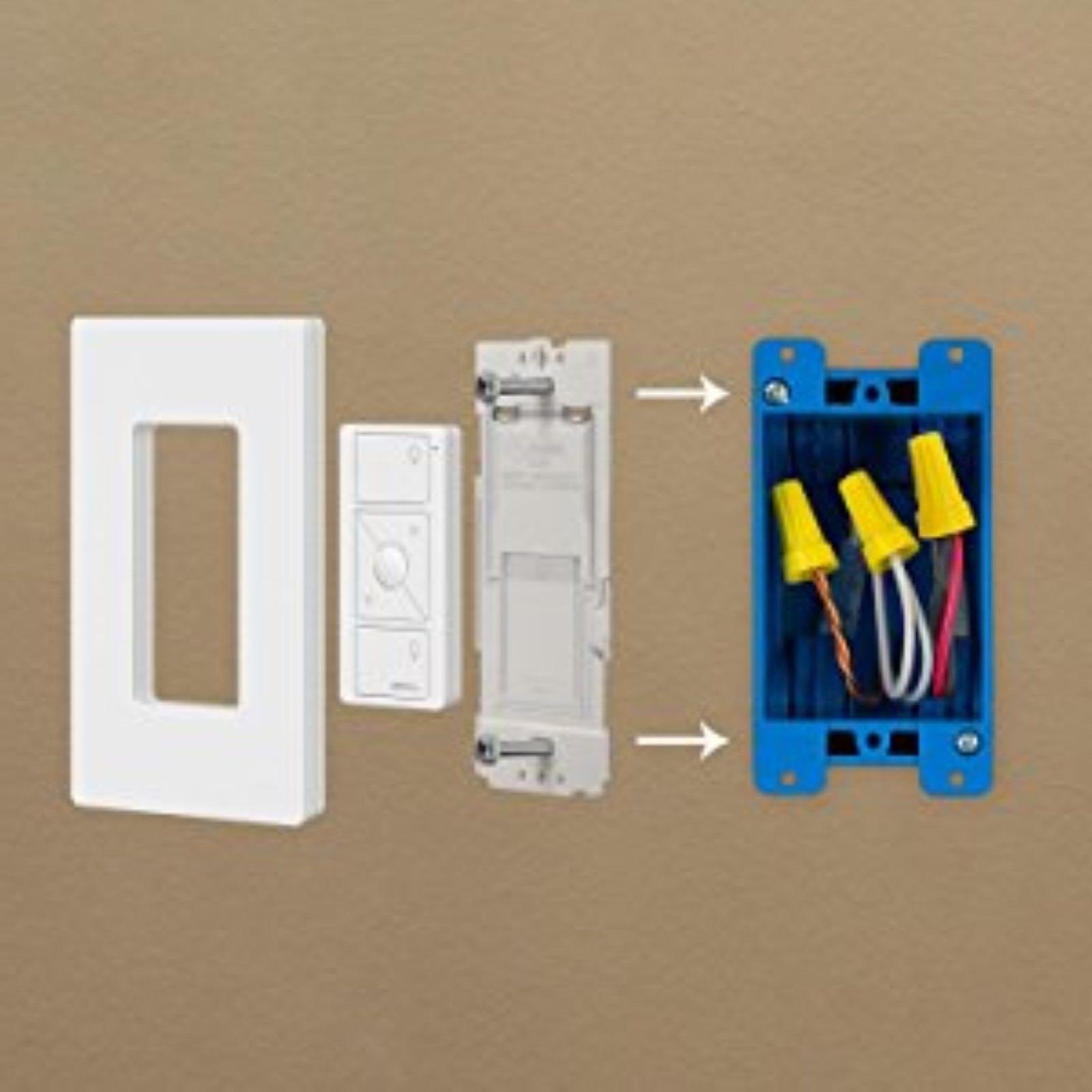 Wallplate Bracket Remote Lutron Caseta Wireless