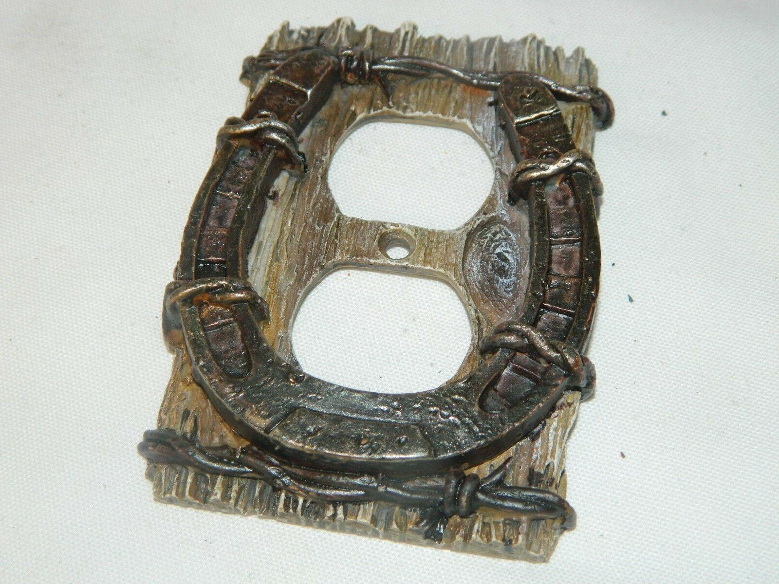 Western Horse Barb Wire Electric Wall Plate Cover~New