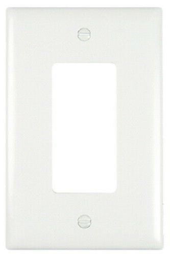 White 1G Decorator Plate Pass and Seymour Standard Receptacl
