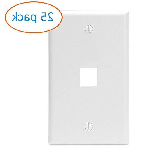 white keystone wall plate