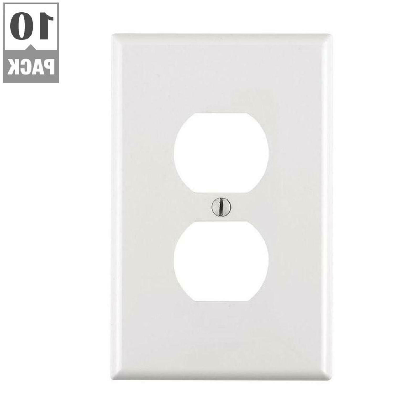 white single electrical outlet plate duplex wall