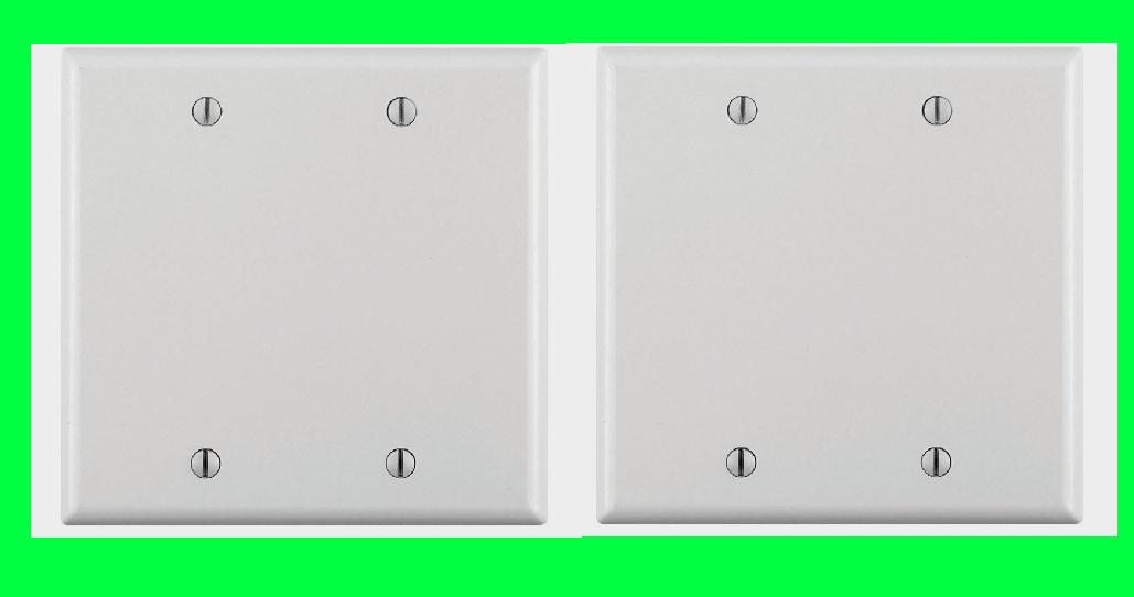 new ivory plastic blank 2 gang wall