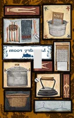 Laundry Room Essentials Switchplate - Switch Plate Cover