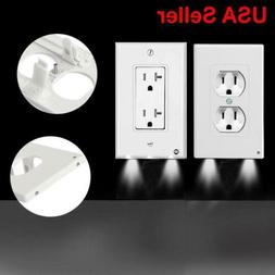 Outlet Wall Plate Led Night Lights Cover Duplex With Ambient