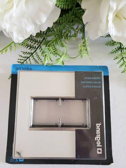 Legrand Adorne Mirror WHITE Double 2Gang Wall plate Switch O