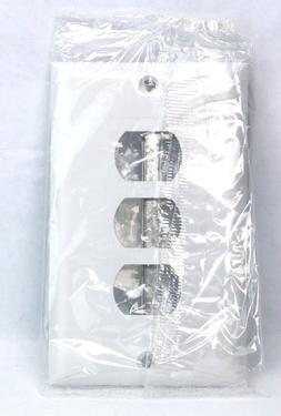 Legrand-Pass & Seymour White Plastic Despard Wall Plate Thre