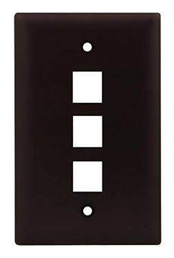 Legrand - On-Q WP3403BR, One Gang, Three Port Wall Plate. Br