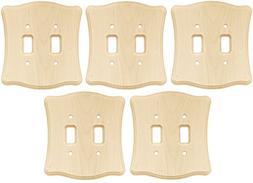 Liberty Hardware 64631 Wood Double Toggle Switch Wall Plate