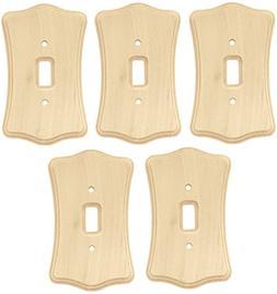 Liberty Hardware 64641 Wood Single Toggle Switch Wall Plate