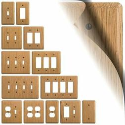 Light Oak Wood Switch Plate Cover Contemporary Outlet Rocker