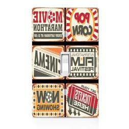 Light Switch Plate Cover Cinema Movie Ticket Wall Plate-Thea