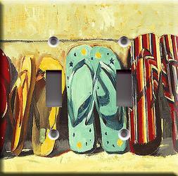 Light Switch Plate Cover - Flip flops beach - Pool accessori