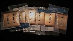LIGHT SWITCH WALL PLATES Lot 6 Double Switch Antique Copper