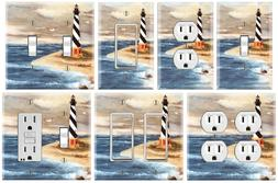 Lighthouse Beach - Graphics Art Toggle/Rocker/GFCI/Outlet Wa