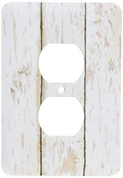 3dRose LLC lsp_109926_6 Country White Wooden Rustic Planks 2