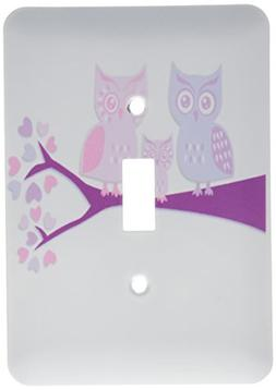 3dRose LLC lsp_128534_1 Cute Owl Family with Baby Girl Purpl