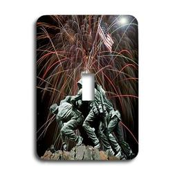 3dRose LLC lsp_14248_1 Marine Corp Memorial with Fireworks -