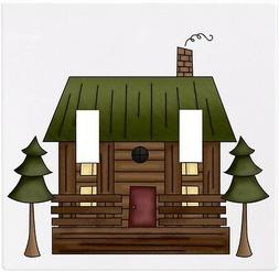 Log Cabin Wallplate Wall Plate Decorative Light Switch Plate