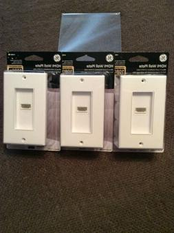 """LOT OF 3 - """"NEW/SEALED"""" GE HDMI Wall Plate High Definiti"""