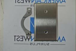 Lot of 4 New GE 93121  Stainless Steel 1 Gang Wall Plates