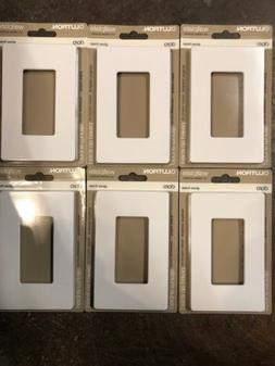 Lot of 6  Lutron CW-1-WH Claro 1-Gang Wall Plate, White