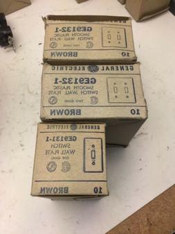 LOT Rare Vintage GE Wall Plate Cover One Gang Light Switch T