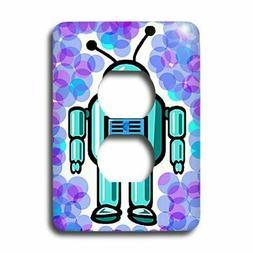 3dRose lsp_1303_6 Robot 2 Plug Outlet Cover