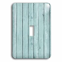 3dRose lsp_164625_1 Vintage Blue Rustic Image of Wood chic a