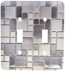 3dRose lsp_181106_2 Image of trendy stainless steel block pa