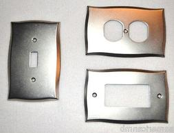 Lylah Metal Wall Plate Single Switch Duplex Decorator Outlet