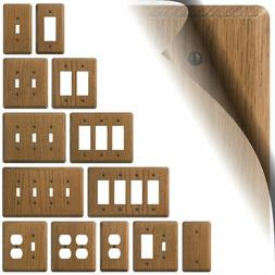 Medium Oak Switch Plate Cover Rustic Wood Wallplate Outlet R