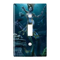 Mermaid Ocean Hunt Plastic Wall Decor Toggle Light Switch Pl