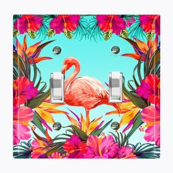 Metal Light Switch Cover Wall Plate Home Decor FLAMINGO FLOW