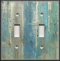 Light Switch Plate Cover Beach Aged Wood