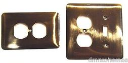 Brainerd Metal Wall Plate Single Switch Duplex Outlet Cover
